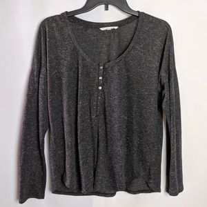 Victoria's Secret Henley Lightweight Gray Shirt S